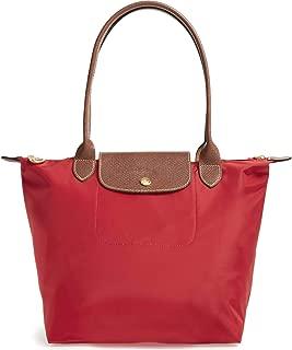 Longchamp 'Medium 'Le Pliage' Tote Shoulder Bag, Red