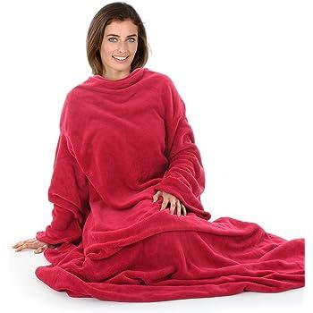 Genuine Snug Rug ™ COSY Adults Cosy Warm SLEEVED Arms Blanket Fleece Official UK