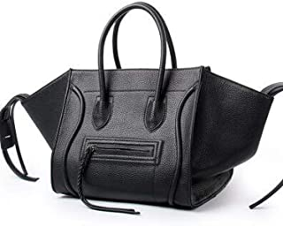 Women Leather Handbags Fashion Smile Face Smiley Clutches bag
