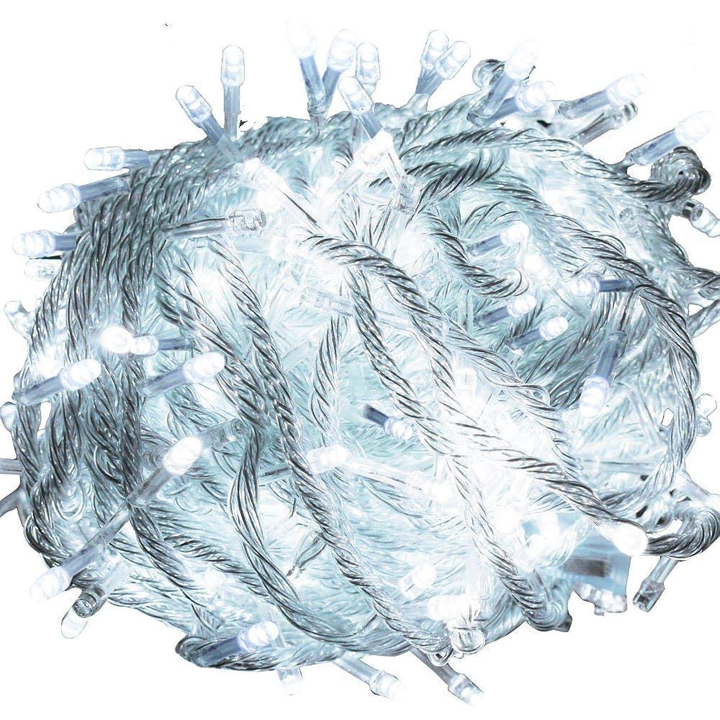 株式指定クルーGOODGOODS LED イルミネーション ライト 30m 500球 クリスマスツリー 飾り 屋外 防水 メモリー機能搭載 ホワイト LD55 白