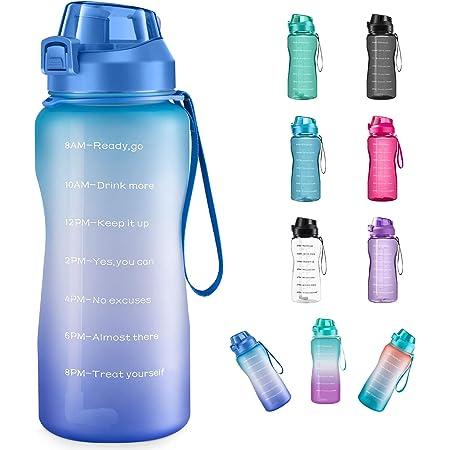 Artoid mode 1500 ml Motivational Fitness Entrainement Sports bouteille d/'eau avec le temps ma