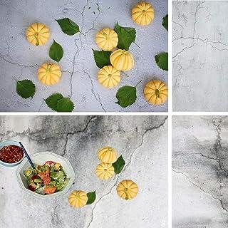 2 in 1 Betonmauer Hintergrund für Feinschmecker Konditorei Foto Shooting doppelseitiges Muster Fotografie Kulissen nahtlose Papier Bord TB 12