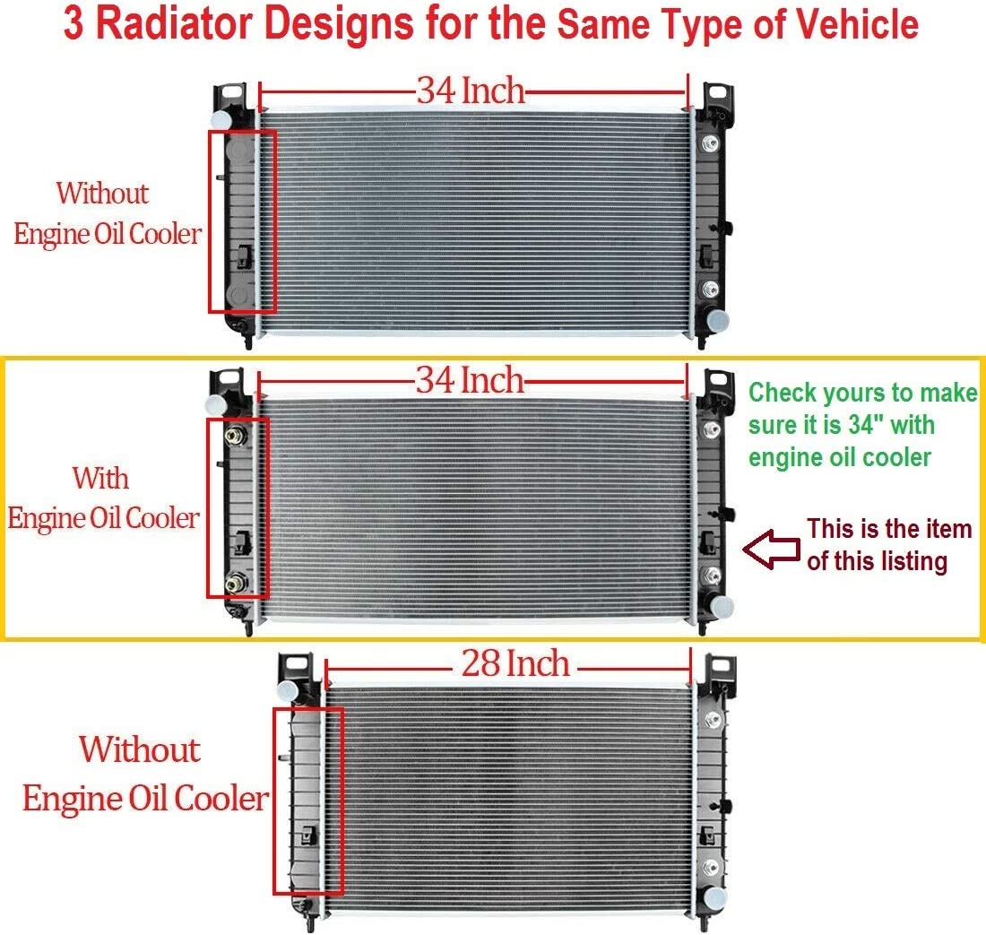 """Popular standard Radiator for 2004 70% OFF Outlet GMC Sierra 2500 6.0L-This B HD 34"""" is"""