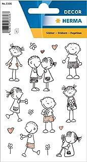 HERMA 336 Lot de 24 autocollants en papier pour garçons, filles, jeunes enfants et anniversaires