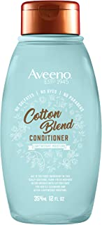 Aveeno Cotton Blend Sulfate-Free Conditioner with for Light Moisture & Soothed Scalp, Gentle Cleansing Conditioner with No...