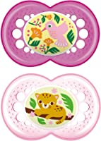MAM Crystal Design Collection Pacifier for Babies 6+ months (2 Pacifiers, 1 Sterilizing Box), MAM Soother with Soft...