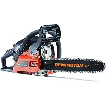 Remington 41AY4216983 RM4216CS 42cc Full Crank 2-Cycle Gas Powered Chainsaw 16-Inch Bar, Automatic Oiler, and Low Kickback Chain, 42cc-16-Inch, Orange