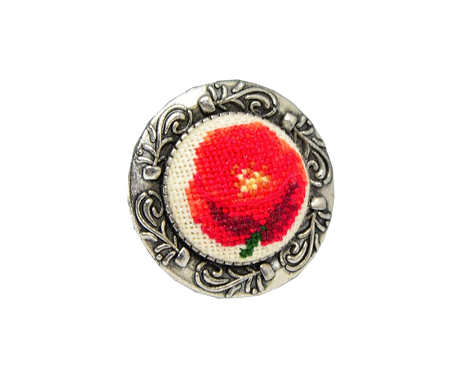 Handmade embroidered brooch 2021 new red poppy Trust with