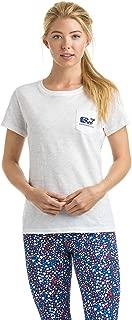 Vineyard Vines Women's Graphic Pocket T Shirt Stars & Whale Fill White