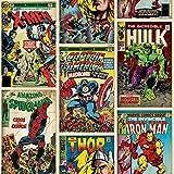 Graham & Brown Héros Marvel ? Multicolore-Multicolore Papier Peint