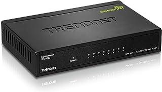 TRENDnet 8-Port Gigabit GREENnet Switch, Ethernet Splitter,10/100/1000 Mbps, Fanless,16 Gbps Switching Capacity, Metal Housing, Plug & Play, Lifetime Protection, TEG-S82G
