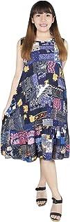 Lofbaz dam patchwork tunika klänning mjuk lätt Rayon bekväm sommarklänning