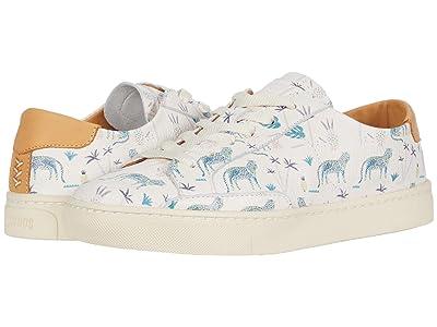 Soludos Blue Leopard Sneaker (White) Women