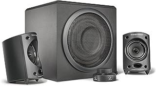 Wavemaster Moody - Sístema de altavoces 2.1 activos (65 Vatios) para el uso con TV/Tableta/Smartphone/PC, color negro (66202)