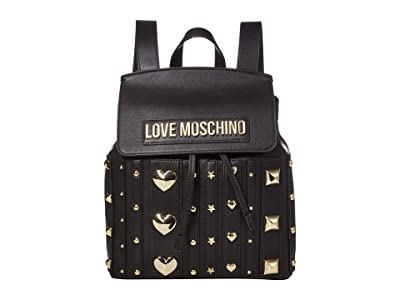 LOVE Moschino Love and More Backpack (Black) Backpack Bags