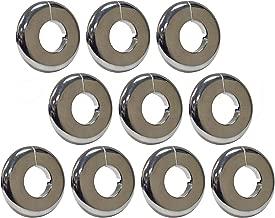 PROCURU 1/2-Inch CTS Split Plastic Lightweight Escutcheon Cover Plate, for 1/2