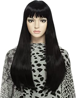 DAOTS Wig 24-Inch Straight Cosplay Synthetic Wig for Women with Wig Cap and Bobby Pins (Black)