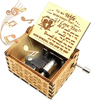 ukebobo Wooden Music Box – You are My Sunshine Music Box, from Husband to Wife - 1 Set