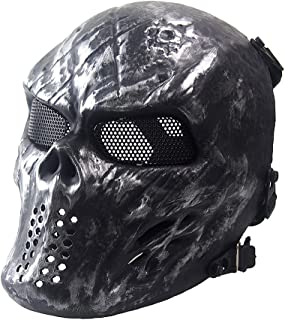 Airsoft Skull Masks Full Face - Tactical Mask Eye Protection for CS Survival Games BBS Shooting Masquerade Halloween Cosplay Movie Props Zombie Scary Skeleton Masks