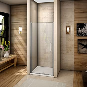 Mampara de ducha lateral fijo con cristal transparente templado de ...