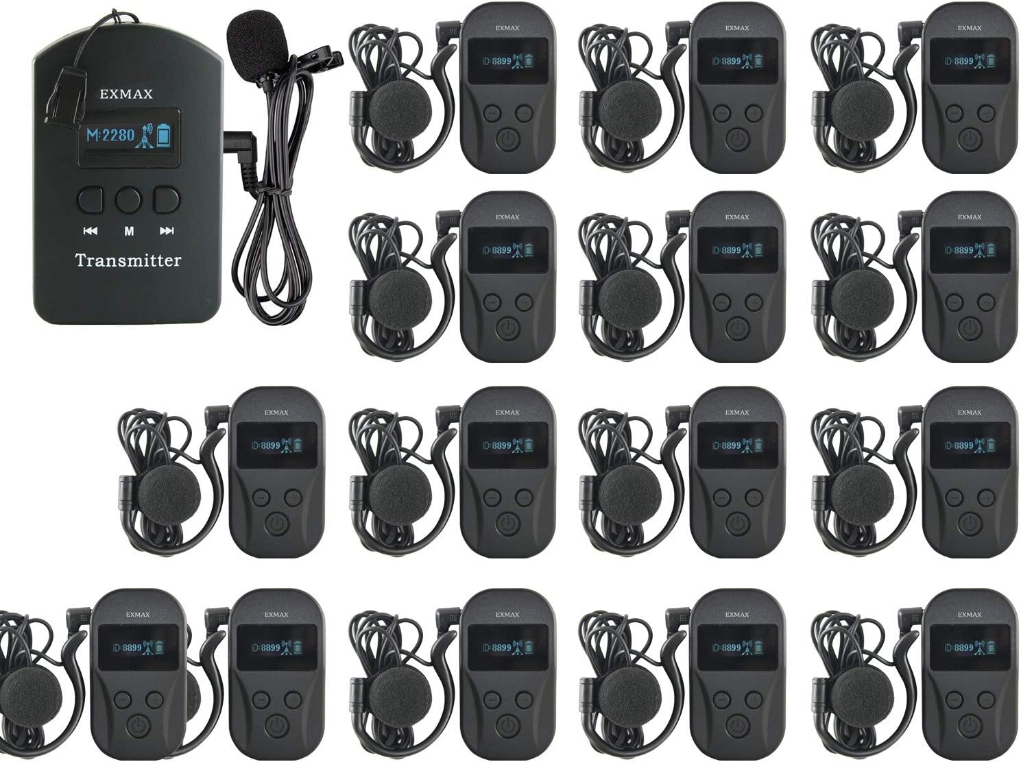 EXMAX EXD-101 2.4G Wireless Tour Guide System Audio Monitoring E