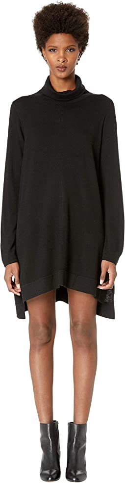 Drapey Turtleneck K/L Dress
