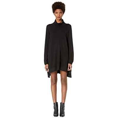 Eileen Fisher Drapey Turtleneck K/L Dress (Black) Women