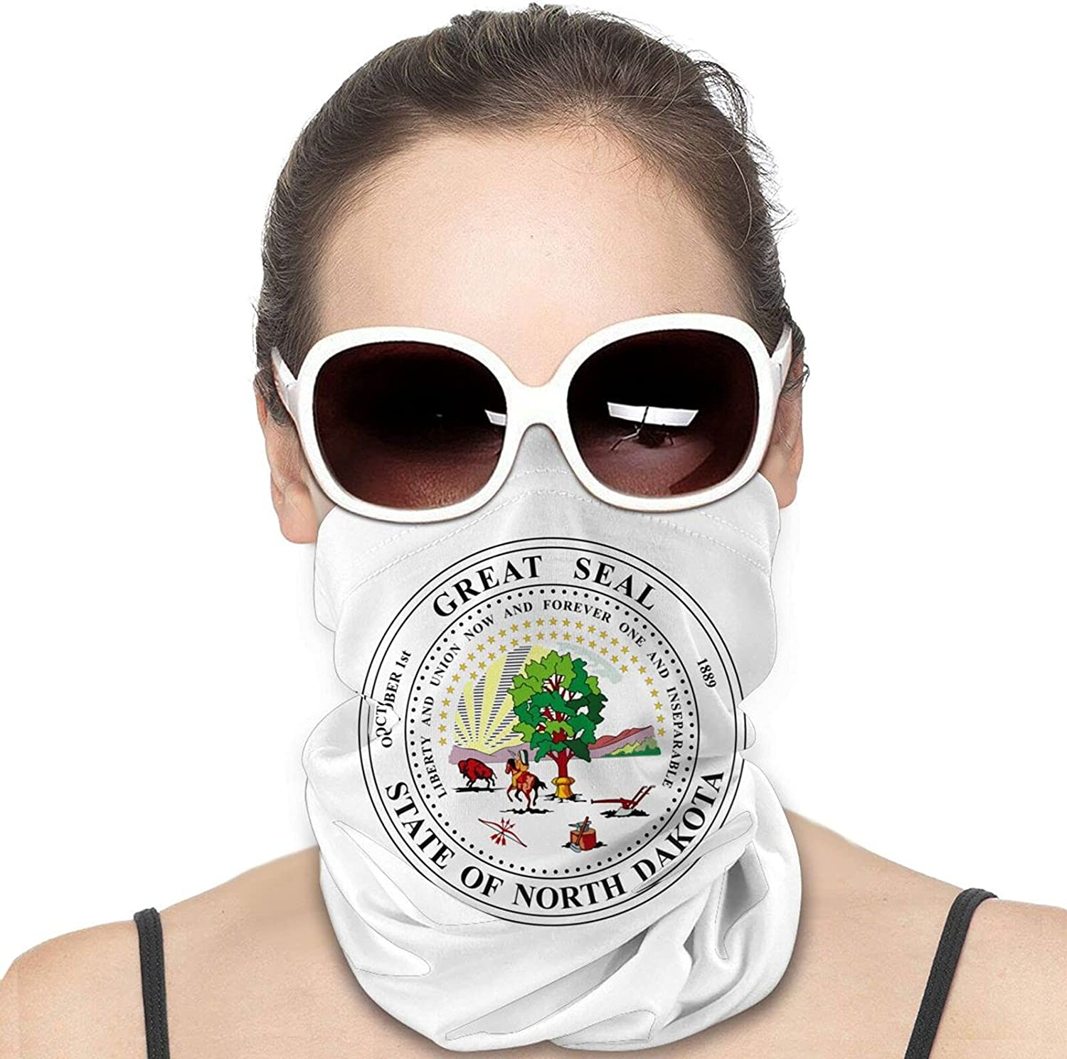 Oklahoma State Flag Round Neck Gaiter Bandnas Face Cover Uv Protection Prevent bask in Ice Scarf Headbands Perfect for Motorcycle Cycling Running Festival Raves Outdoors