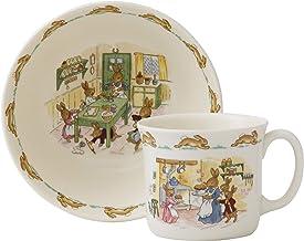 مجموعة أدوات طعام رويال دولتون بانيكينز الكلاسيكية مكونة من قطعتين للأطفال، 26.67 سم، متعددة الألوان
