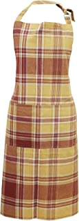 Milano Home Checkered 100% Lightweight Cotton Professional Apron for Men & Women with Adjustable Neck & Centre Pockets Per...