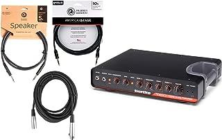 Hartke TX600 600 watt Class D Bass Amplifier Tube Preamp w/ Instrument, XLR, and Speaker Cables