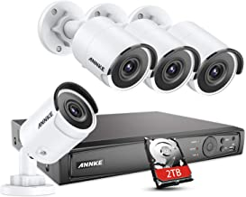 ANNKE 8CH UltraHD 4K Home Security Camera System w/ 4 x 8MP PoE IP Bullet Cameras + 2TB HDD, 100ft Night Vision, Weatherpr...