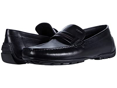 Geox Moner (Black Smooth Leather) Men