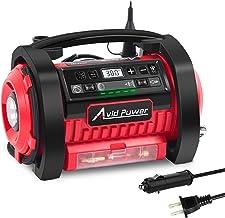 Avid Power Tire Inflator Air Compressor, 12V DC / 110V AC Dual Power Tire Pump with..