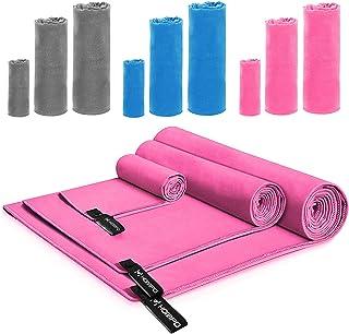 comprar comparacion HOMPO Toalla de Microfibra - Secado rápido, Ligera, Absorbente, Suave y grante Yoga, Fitness, Playa, Gimnasio