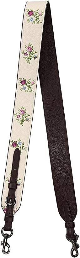 COACH - Novelty Strap With Cross Stitch Floral Print
