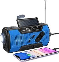 رادیو آب و هوای دستی خورشیدی اضطراری رادیویی-NOAA رادیو با AM / FM 2000mAh چراغ قوه قوه چراغ قوه LED SOS زنگ هشدار برای طوفان خانگی در فضای باز