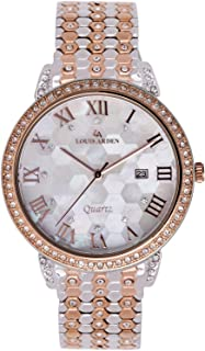 Louis Arden Watch For Women, Stainless Steel - LA3003U-TT-RG-WHT-RG