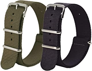 Vetoo Nylon Watch Bands, Quick Release Premium Ballistic NATO Straps, One Piece Replacement Wristband for Men Women, 22mm ...