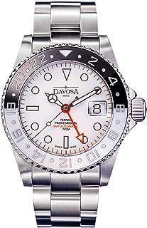 DAVOSA - Ternos GMT - Reloj de pulsera para hombre (incluye correa de nailon), color blanco y negro