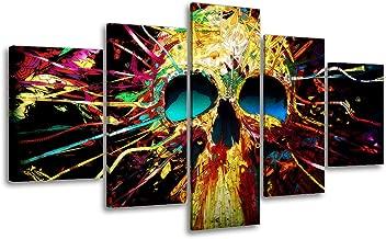 Best skull canvas wall art Reviews