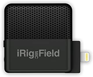 IK Multimedia iRig Mic Field stereo condenser microphone for iPhone and iPad - IP-IRIG-FIELD-IN - Black