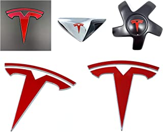 Custom Cut Graphics Tesla Model 3 Logo Decal Wrap (Gloss Red)