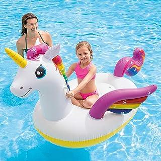 حمام السباحة وحيد القرن القابل للنفخ ، ركوب على شاطئ شاطئ حمام سباحة ، ألعاب للأطفال البالغين