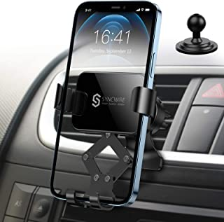 Syncwire Car Phone Mount, Air Vent Cell Phone Holder, Gravity Phone Car Mount Compatible with iPhone 12/11 Pro Max XS Max XR X 8 7 6s 6+ 6 Samsung Galaxy S10 S9 S8 and Smartphone Under 6.8 Inch