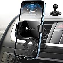 Syncwire Support Téléphone Voiture - Porte Portable Voiture Rotation 360° Compatible avec iPhone 12 Pro Max/11/XS Max/X/XR / 8 Plus, Samsung S20 / S9 / S8, Huawei, Xiaomi etc.