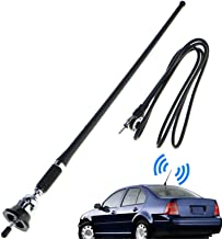 Linkstyle 16.9 Inch Car FM AM Radio Antenna, Flexible Mast Radio FM/AM Antenna Universal..