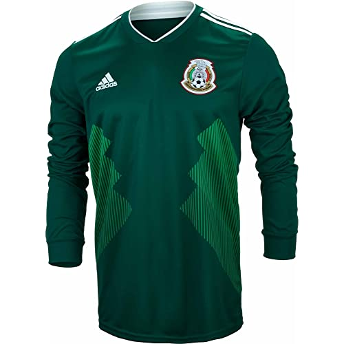 ab5b1c896 adidas Men s Soccer Mexico Home Long Sleeve Jersey