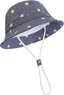 DRESHOW Baby Sun Hat Summer Beach UPF 50+ Sun Protection Baby Boy Hats Toddler Sun Hats Cap for Baby Girl Kid Bucket Hat