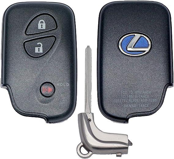 New uncut blank replacement key insert for LEXUS smart keyless ...